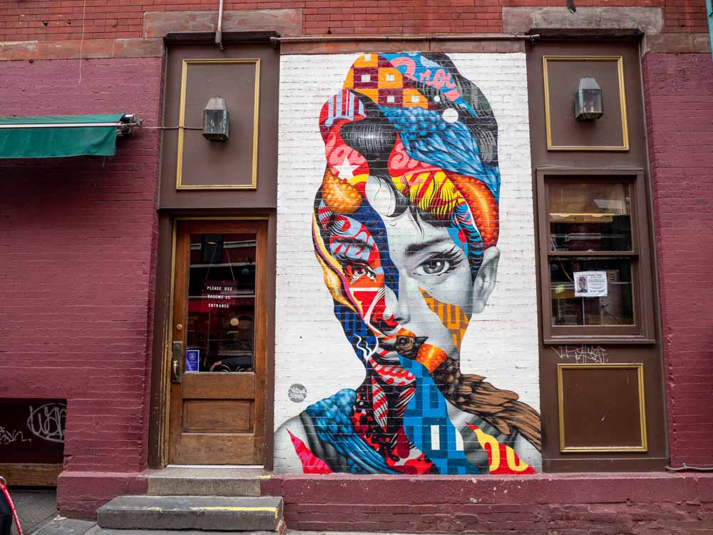 Little Italy Audrey mural by Tristan Eaton