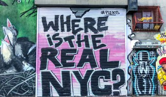New York City street art by Pleks: Where is the real NYC