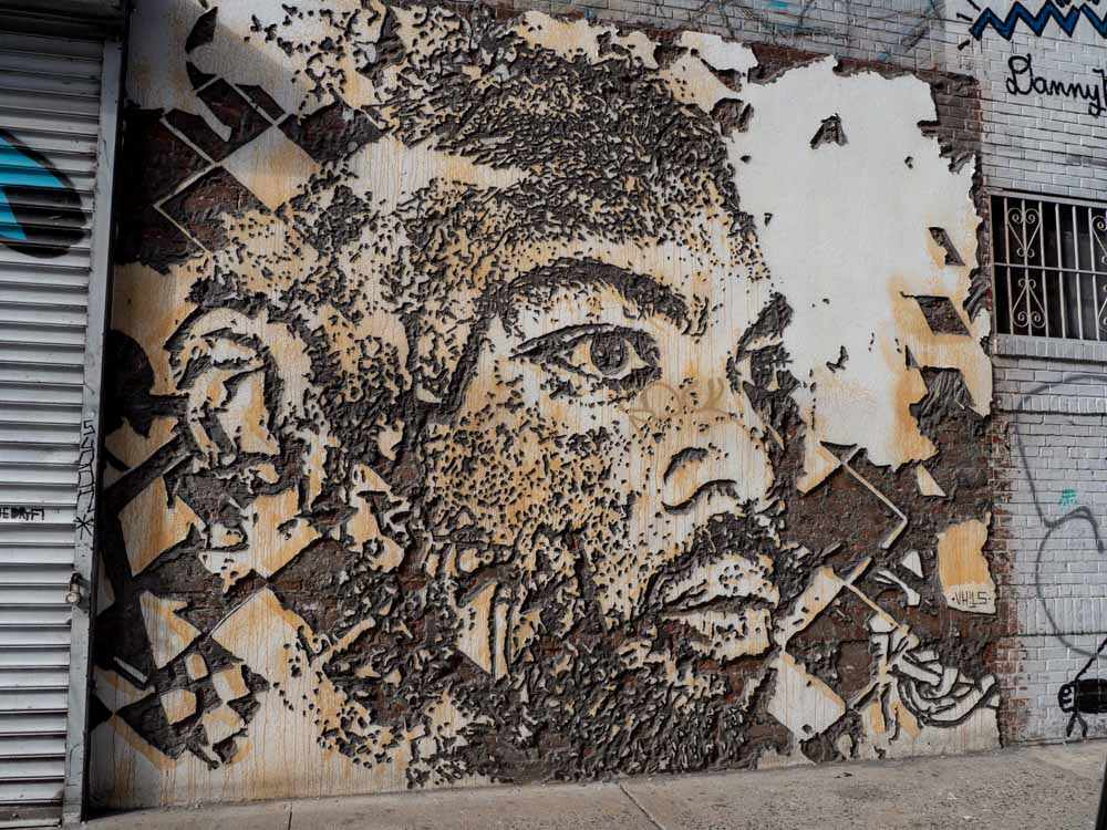Vhils street art sculpture SoHo New York