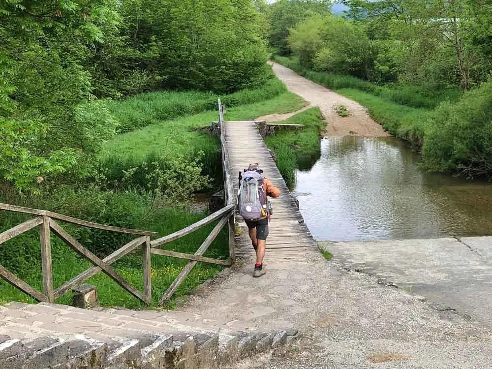 El Camino de Santiago hiker Frances trail
