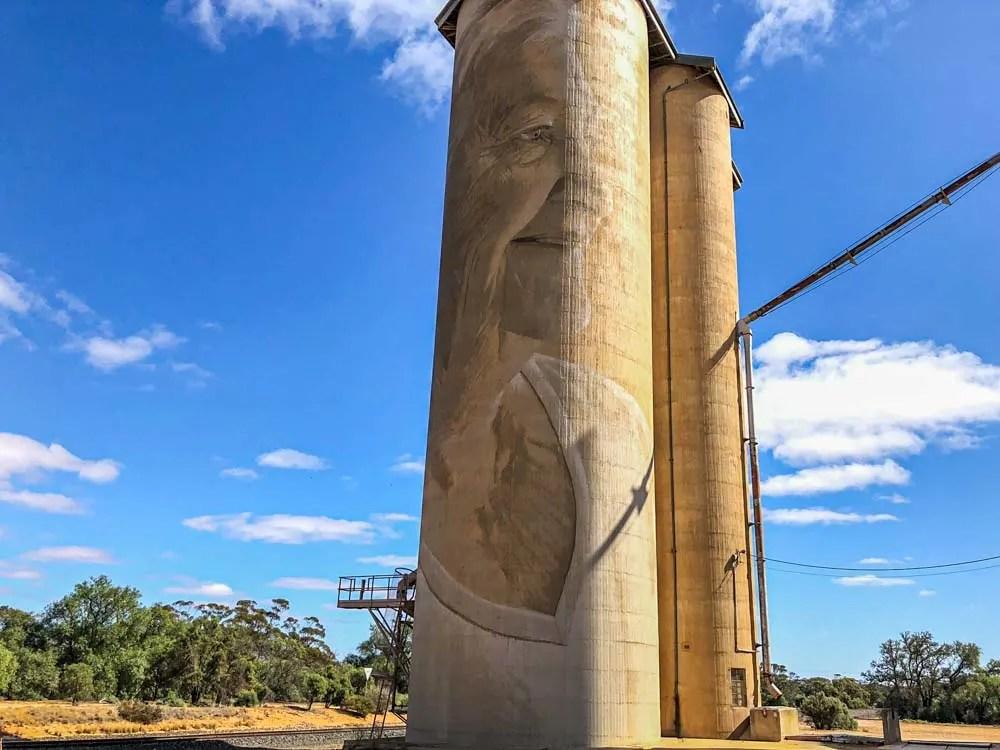 Painted silos of Australia, Rone mural Lascelles