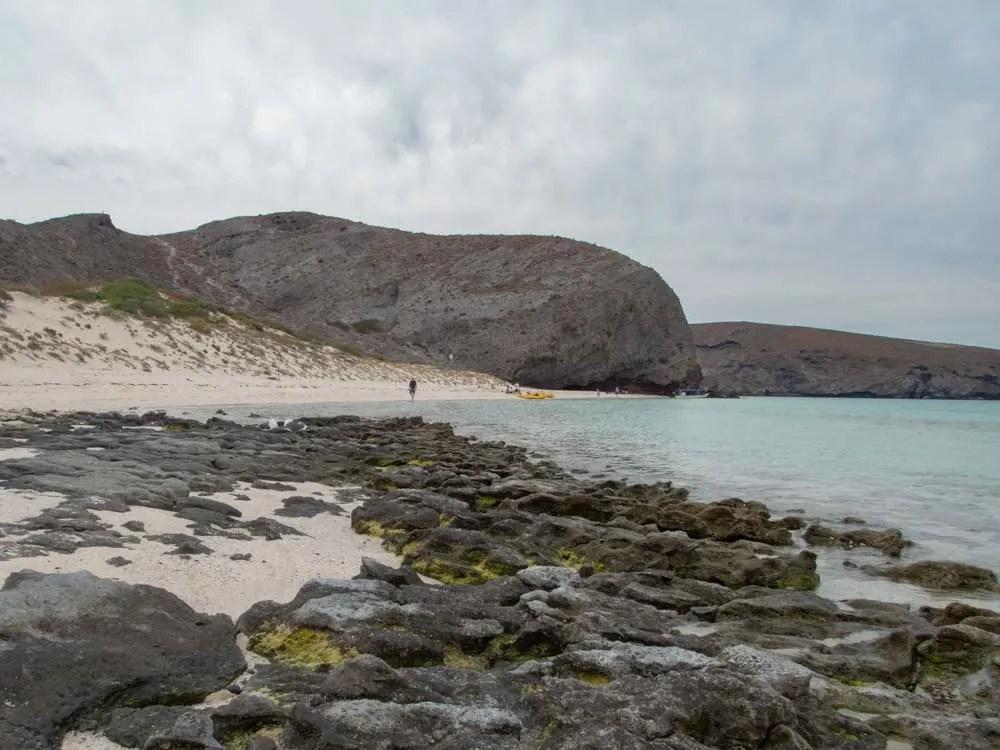 Balandro Bay Beach La Paz with rocks and beach