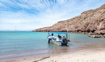 Isla Partida beach near La Paz Mexico
