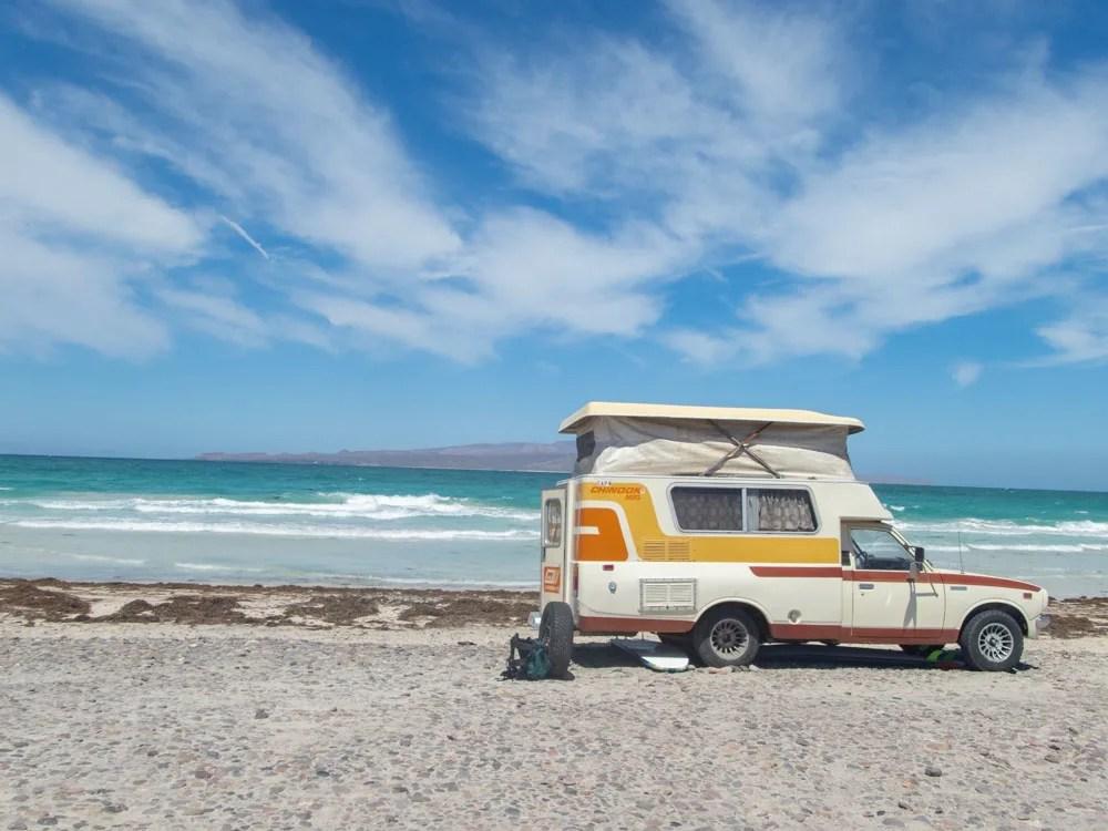 La Paz Beaches: Tecalote beach