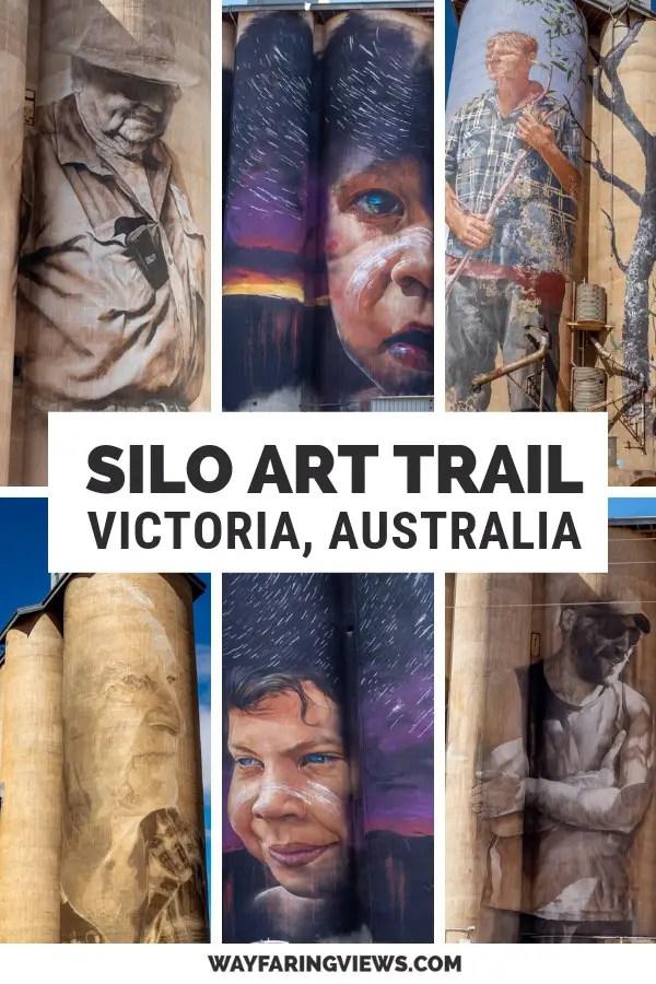 Silo Art Trail, Victoria Australia. Images of murals
