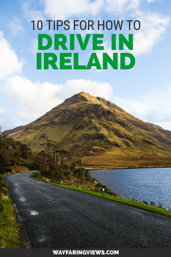 10 tips for driving in ireland. Road with mountain in background
