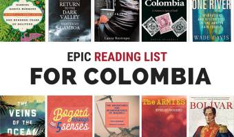 Books About Colombia South America. Feature image with book covers