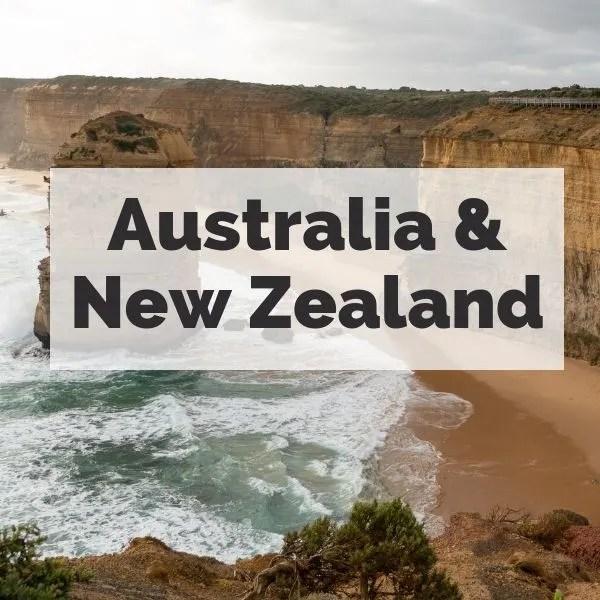 Wayfaring Views destinations: Australia & New Zealand