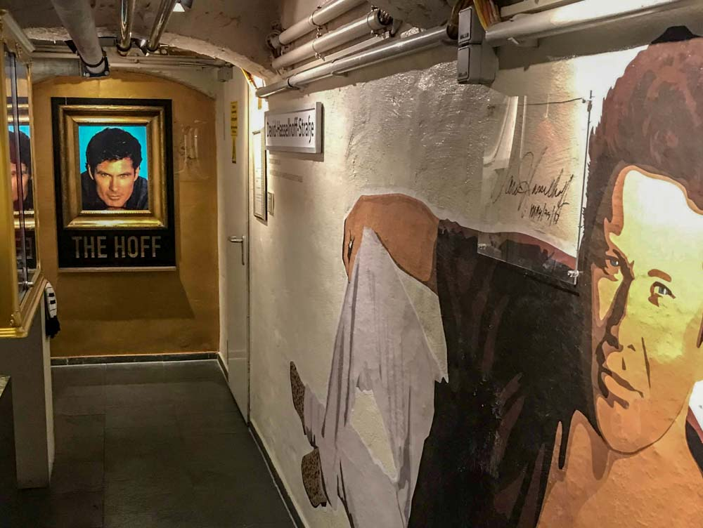 David Hasselhoff Museum in Berlin Germany- museum displays showing a man