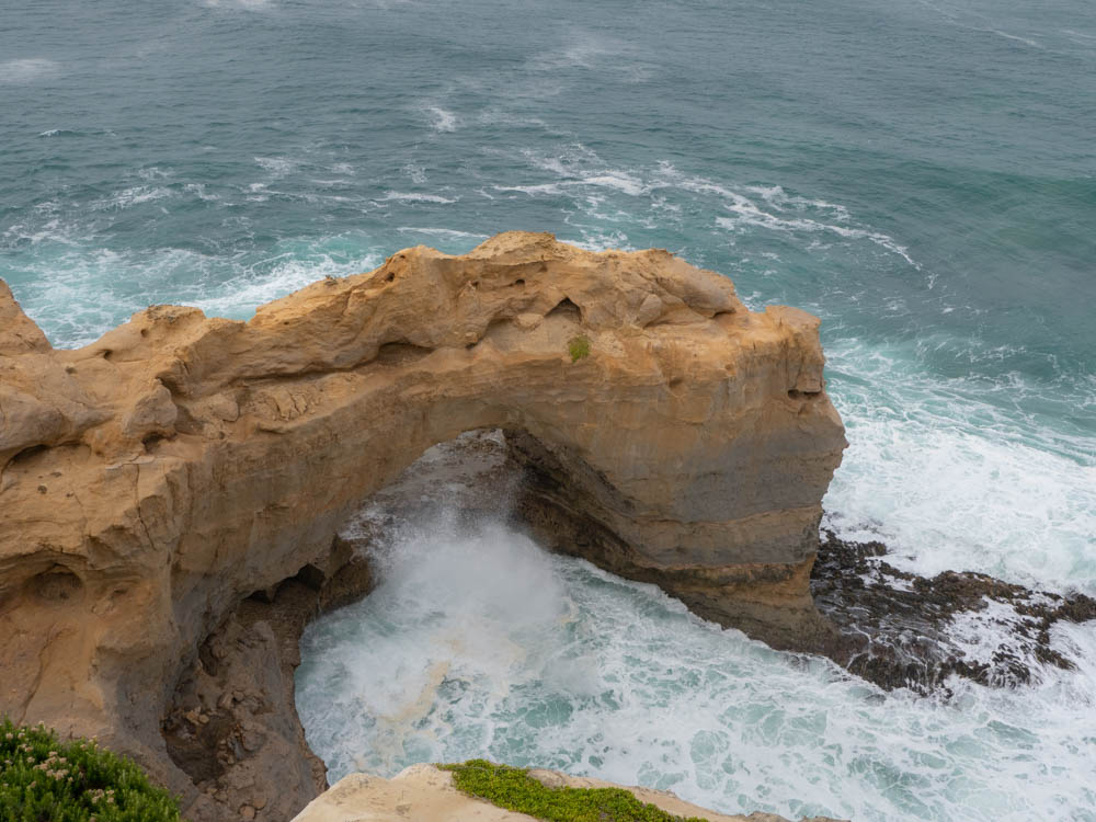 Great Ocean Road Australia The Arch. Limestone rock and ocean waves