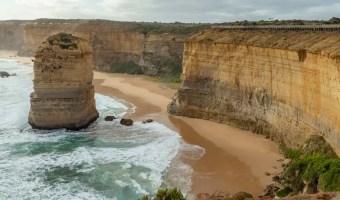 Australia Great Ocean Road 12 Apostles. Coastal view with limestone stacks