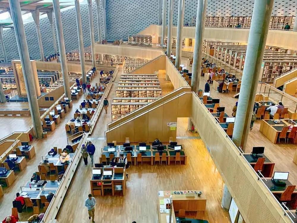 Bibliotheca Alexandrina in Alexandria Egypt. Reading Room