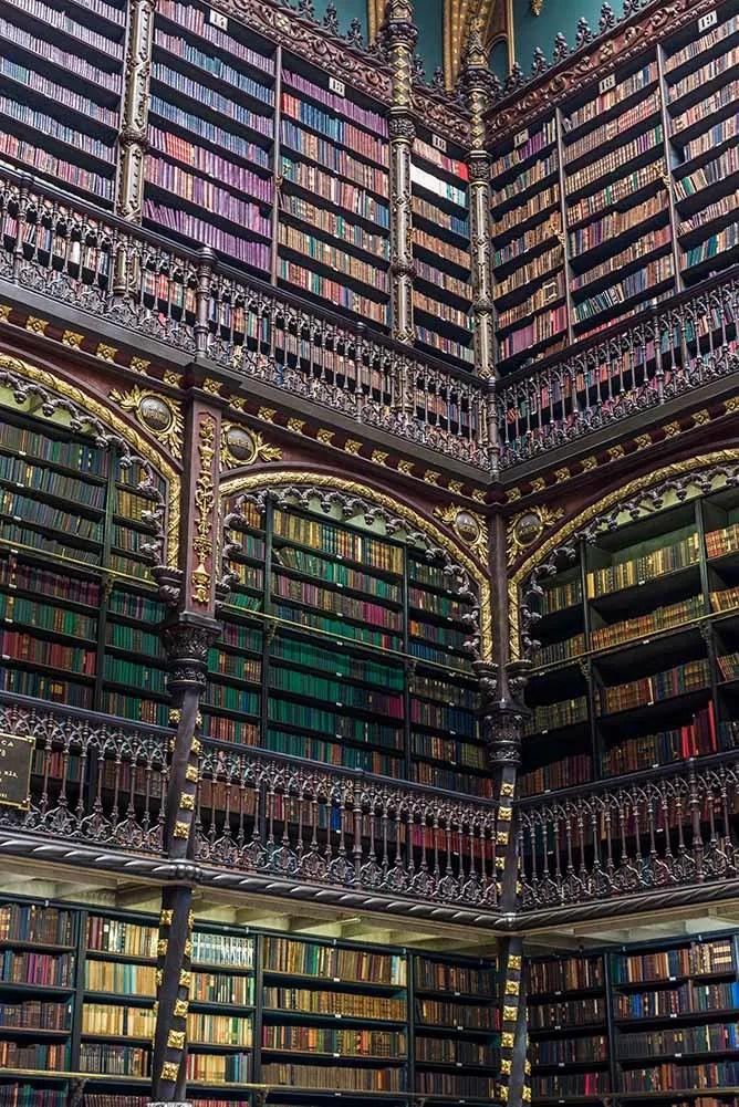Real Gabinete Português de Leitura. Royal Portuguese Reading Room Rio de Janeiro