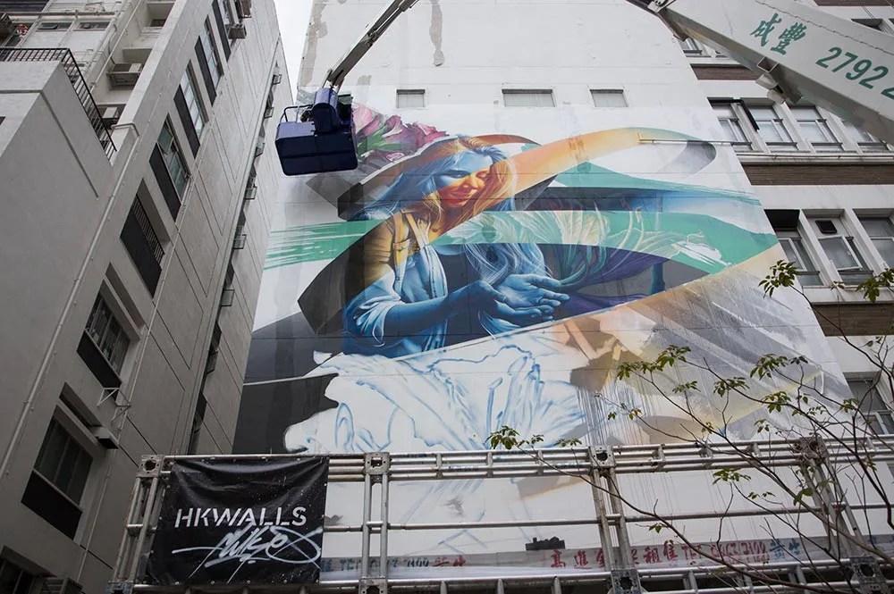 Hong Kong HK Walls mural by Daniel Murray
