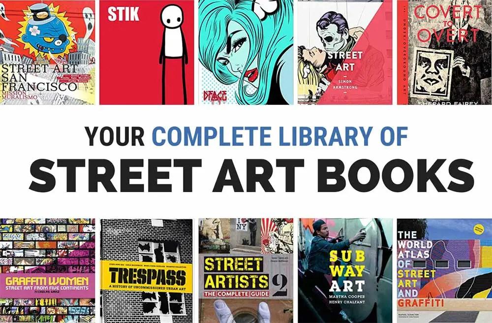 Collection of Street Art Graffiti Books
