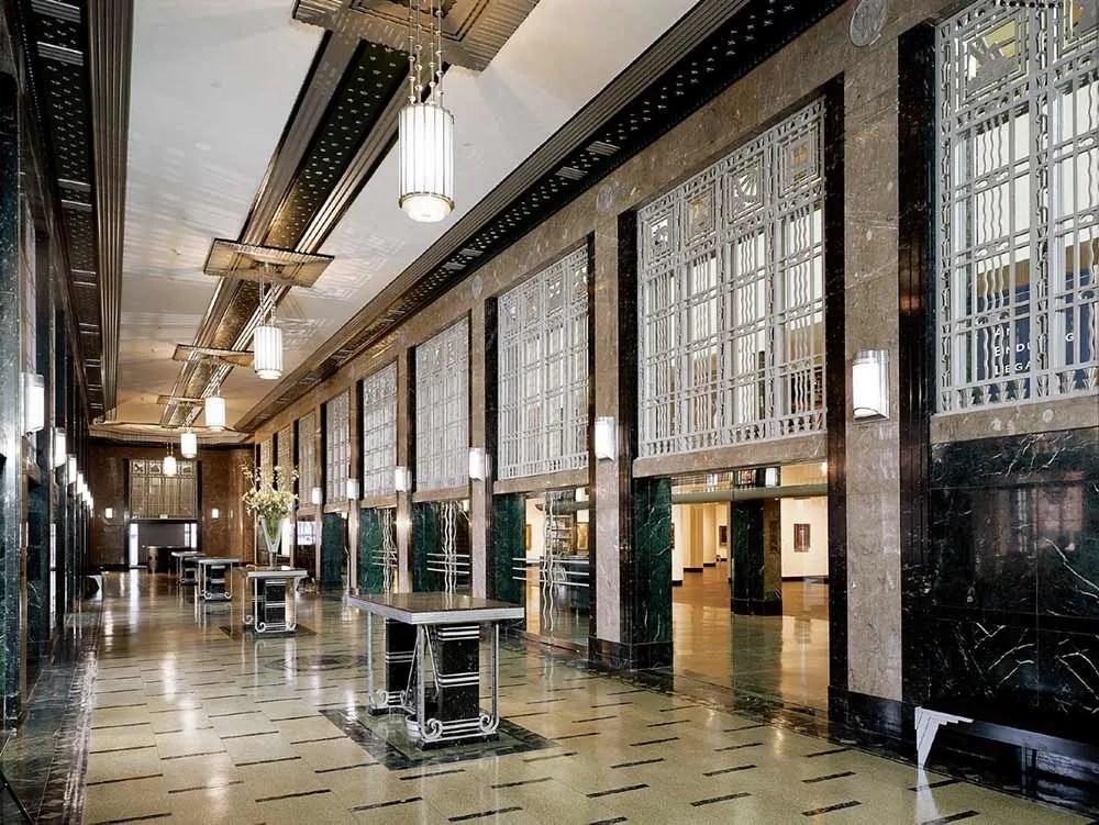 Nashville Frist museum interior. Art Deco