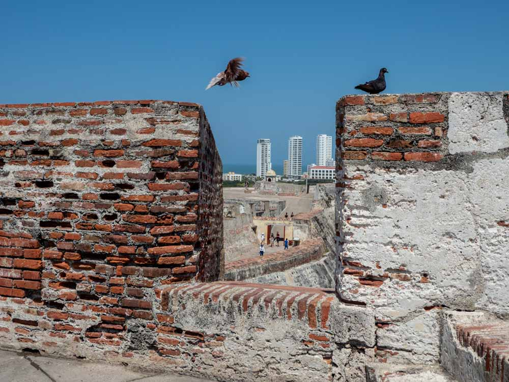 Cartagena Castillo San Felipe de Barajas view of city