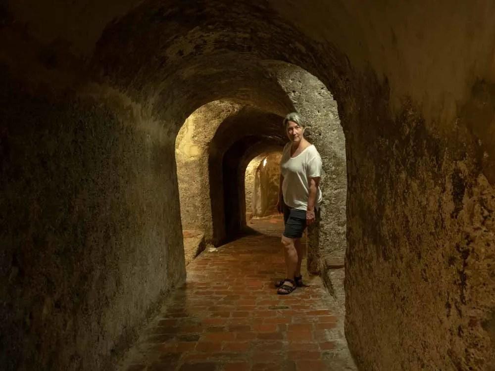 Cartagena Castillo San Felipe de Barajas tunnel