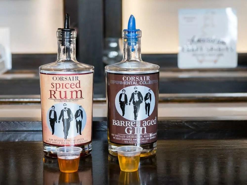 Nashville: Corsair Distillery. Two bottles of gin