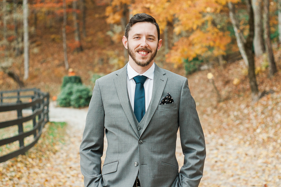 Groom Portrait Fall Color
