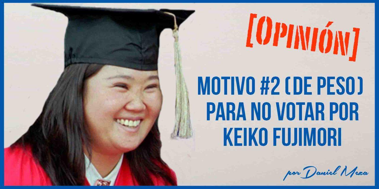 No votaré por Keiko Fujimori porque estudió con dinero de los peruanos
