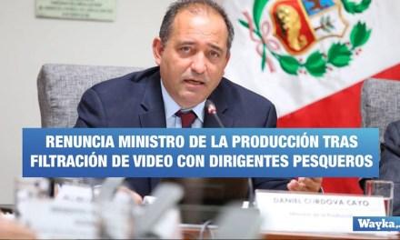 Renuncia ministro de la Producción