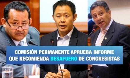 Aprueban informe para desaforar de Ramírez, Fujimori y Bocángel