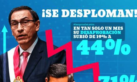 Martin Vizcarra y Luis Galarreta y bajan su popularidad según Pulso Perú