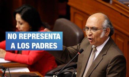 Padres y madres niegan ser representados por el congresista Julio Rosas