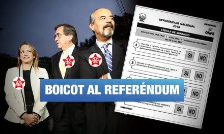 APRA pretende alterar consulta popular al impugnar la cédula de votación