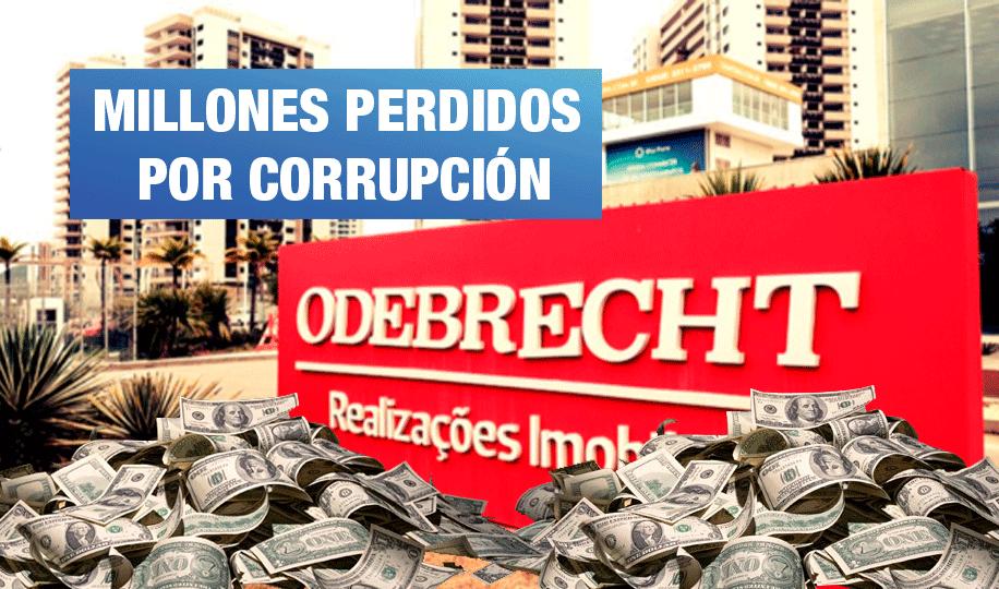 En S/1 250 millones se calcula daño por sobornos de Odebrecht en cuatro megaproyectos