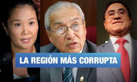 Lima es la región del país con mayor cantidad de casos de corrupción