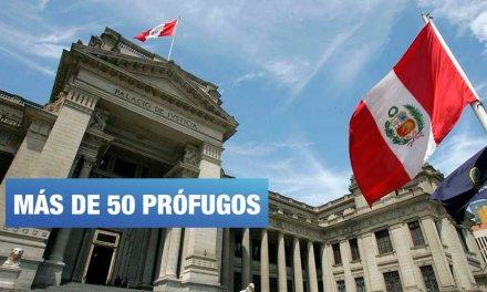 Más de 50 investigados han huido de la justicia peruana