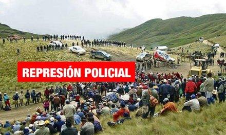 Cajamarca: Policía invade terreno privado y reprime paro indefinido en Bambamarca