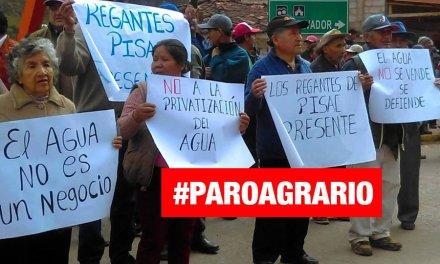 Ministra del Ambiente asegura que no se privatizará el agua tras paro agrario en Cusco