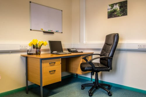 One of the workspaces in our Beech office. Currently available to let.
