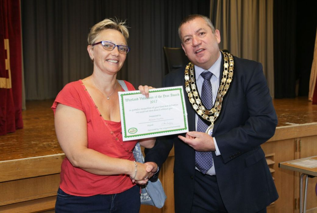 Ali Curtis, nominated for her role with the Wayland Partnership
