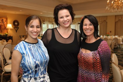 (Left to Right) Anna Lesser, Event Co-Chair and Youth in Philanthropy participant (Wayland resident); Julie Toskan-Casale, former MAC Cosmetics Executive and Founder of the Youth and Philanthropy Initiative; Pam Lesser, Event Co-Chair (Wayland resident). Photo by Michael Casey