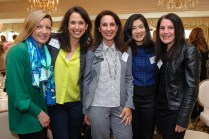 Lauri Sugar (Wayland resident), Denise Rosenblum, Rhonda Skloff, Owner of Spinning Lotus Studios in Wayland and Wayland resident; Brenda Hsu (Wayland resident), Wendy Simches, Event Committee member and Wayland resident. Photo by Michael Casey