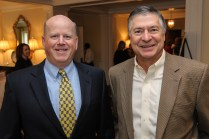 (Left to Right) Garry R. Holmes, President of R.W. Holmes in Wayland; Jack O'Neil. Photo by Michael Casey