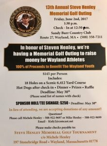 13th Annual Steve Henley Memorial Golf Outing @ Sandy Burr Country Club | Wayland | Massachusetts | United States
