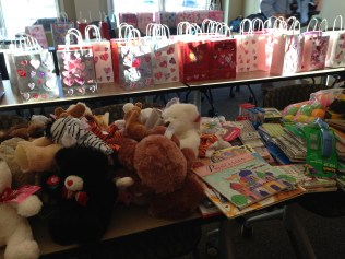 Valentine bags and donations (from 2017)