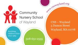 Community Nursery School Open House @ Community Nursery School of Wayland