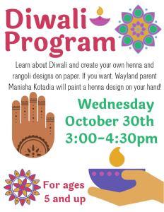 Diwali Program @ Wayland Library