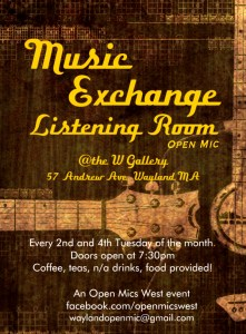 Music Exchange Listening Room Open Mic at the W Gallery @ The W Gallery