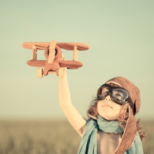 Girl-Toy-Airplane