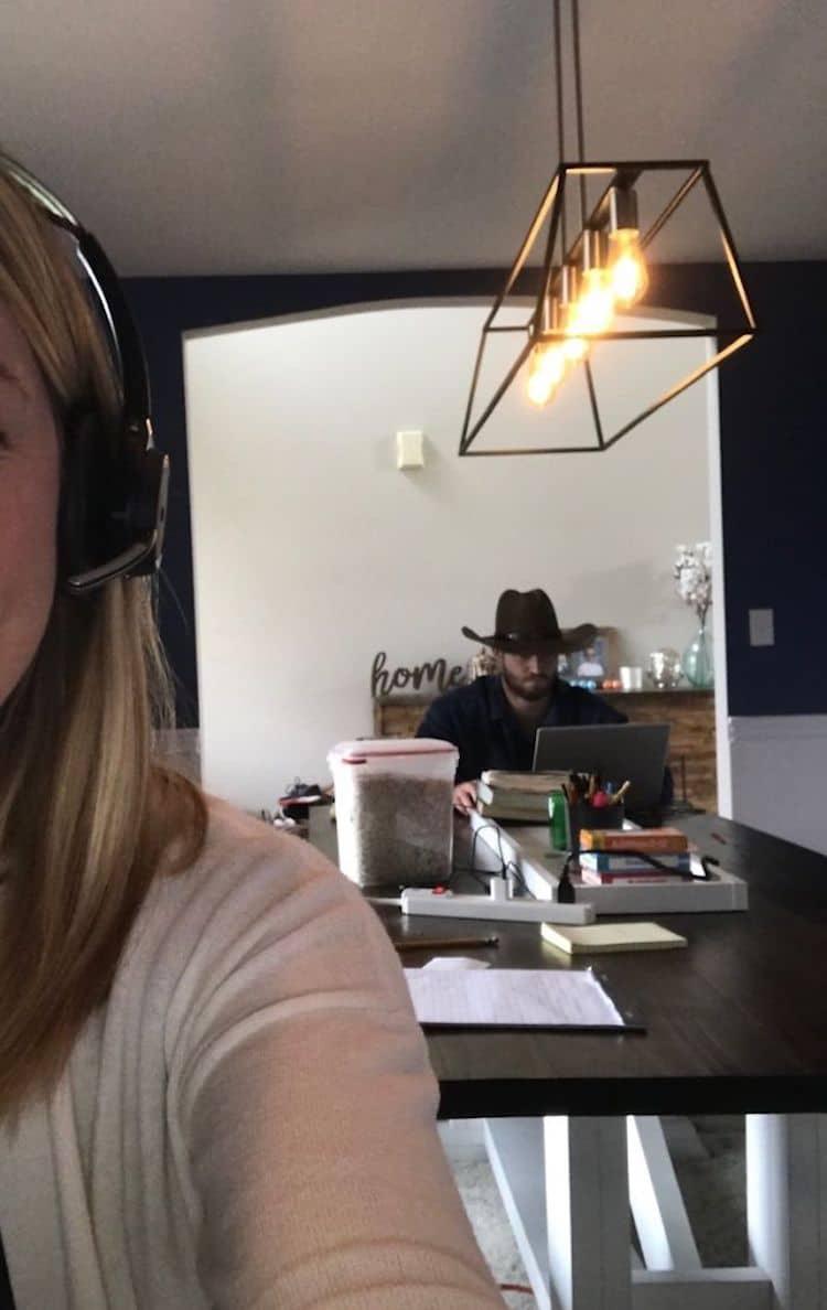 Husband Photobombs Wife's Meetings - WAY Nation