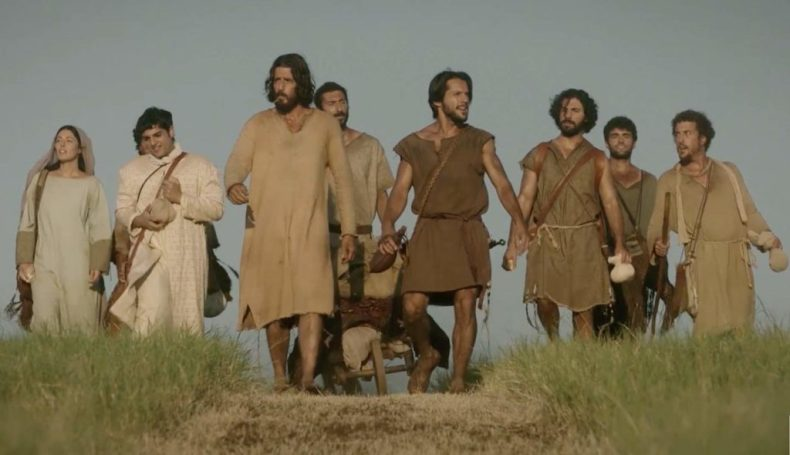 jesus walking with disciples in the chosen