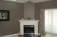 Simple Custom Fireplace Mantel Picture to Pin on Pinterest