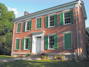 the home of Miami Chief Richardville built in 1827. The exterior has been restored and the interior is largely unrestored due to an ongoing research. photos by